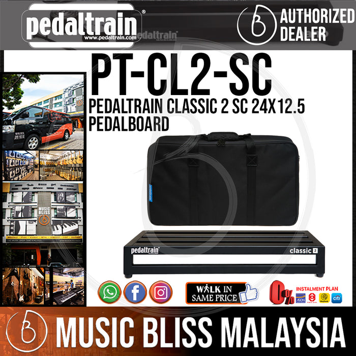 Pedaltrain Classic 2 SC 24x12.5 Pedalboard with Soft Case - Music Bliss Malaysia