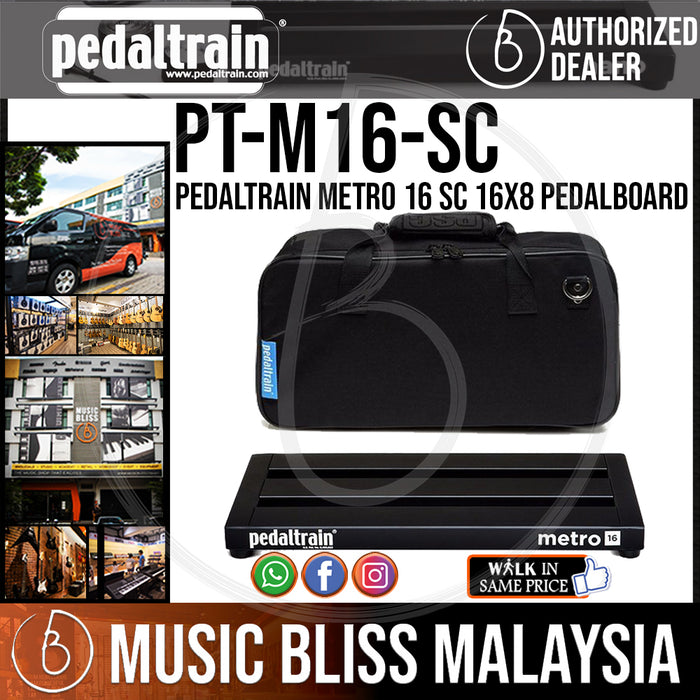Pedaltrain Metro 16 SC 16x8 Pedalboard with Soft Case - Music Bliss Malaysia