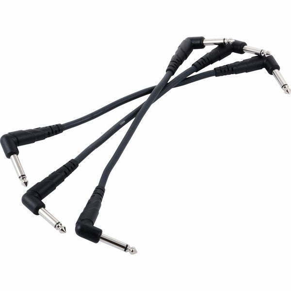 Planet Waves PW-CGTP-305 Classic Series Patch Cable - 0.5 feet, 3-Pack (PWCGTP305) - Music Bliss Malaysia
