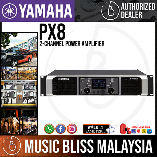 Yamaha PX8 2-channel Power Amplifier (PX-8) * Crazy Sales Promotion * - Music Bliss Malaysia