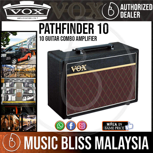 Vox Pathfinder 10 1x6.5 10-watt Combo Amplifier (Pathfinder10) - Music Bliss Malaysia