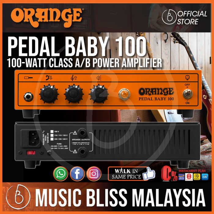 Orange Pedal Baby 100 - 100-watt Class A/B Power Amplifier