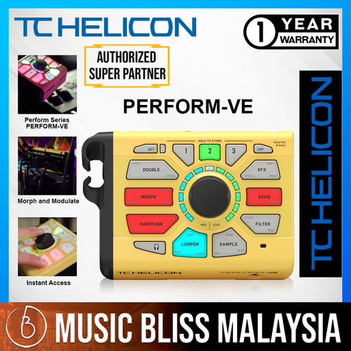TC-Helicon Perform-VE Vocal Sampler and Effects Processor - Music Bliss Malaysia