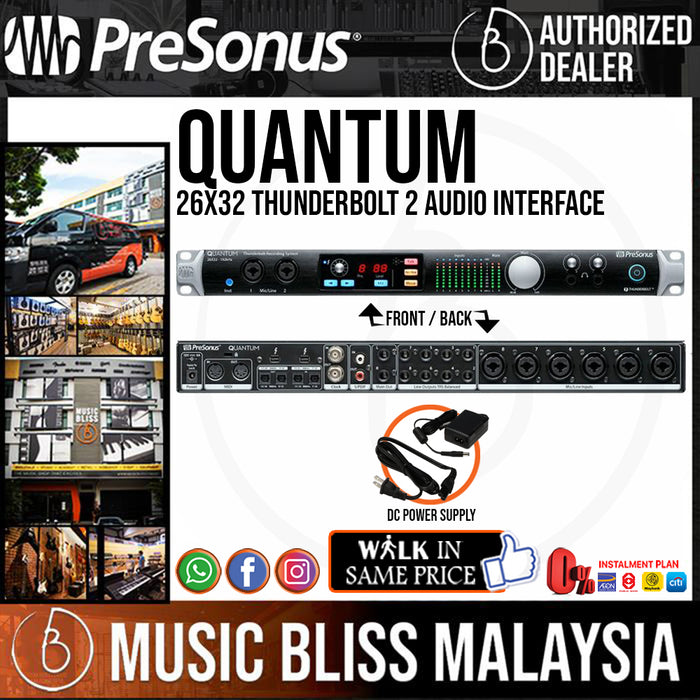 PreSonus Quantum 26x32 Thunderbolt 2 Audio Interface - Music Bliss Malaysia