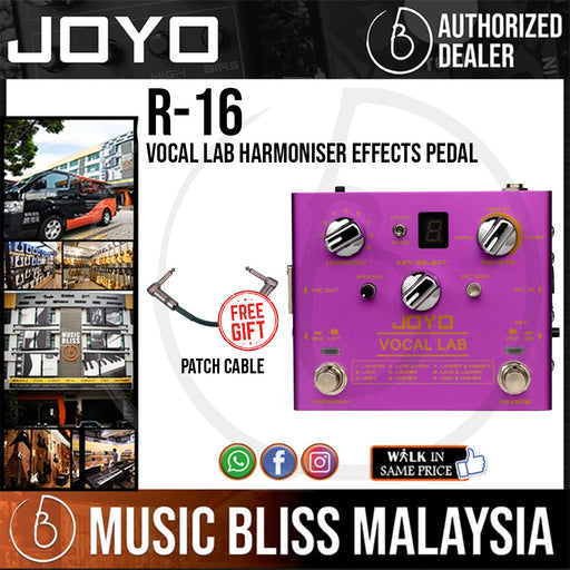 Joyo R-16 VOCAL LAB Vocal Reverb Effect Pedal, Vocal Effect Pedal, with 9 Vocal Harmony Effects, Multi Effect Pedal for Electric Guitar
