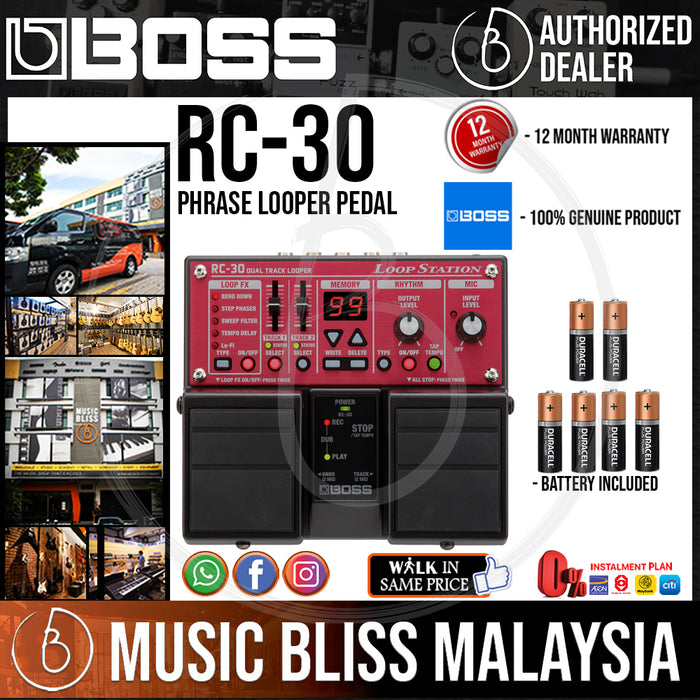 Boss RC-30 Phrase Looper Pedal (RC30) - Music Bliss Malaysia