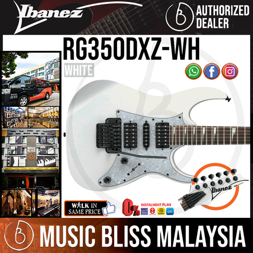 Ibanez RG350DXZ Standard - White (RG350DXZ-WH) *Price Match Promotion* - Music Bliss Malaysia