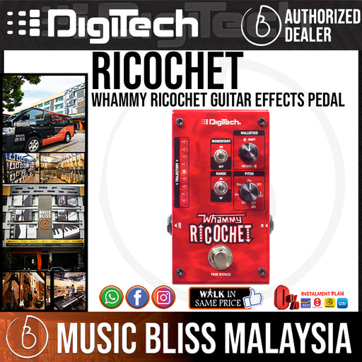 DigiTech Whammy Ricochet Guitar Effects Pedal - Music Bliss Malaysia