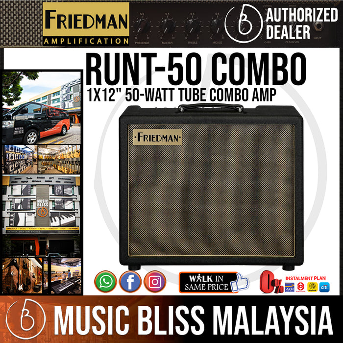 "Friedman Runt-50 1x12"" 50-watt Tube Combo Amp - Music Bliss Malaysia"