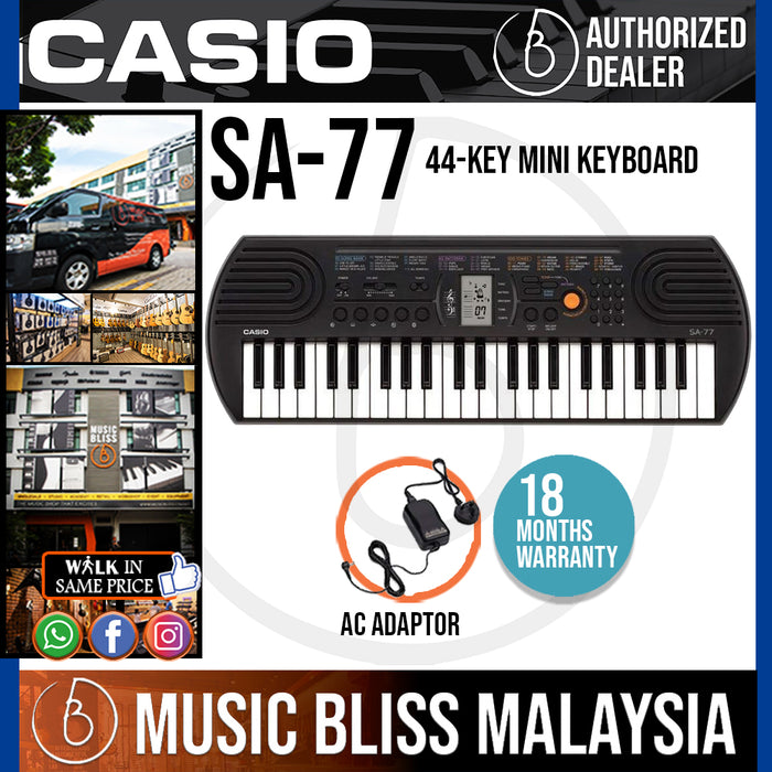 Casio SA-77 Mini Keyboard - Gray (SA77) *Crazy Sales Promotion* - Music Bliss Malaysia