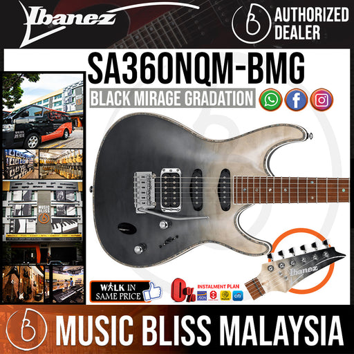 Ibanez SA360NQM - Black Mirage Gradation (SA360NQM-BMG) *Price Match Promotion* - Music Bliss Malaysia
