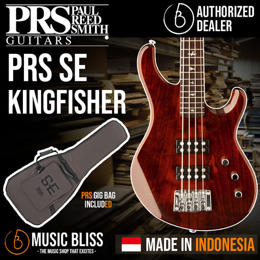 PRS SE Kingfisher Bass 4-string Electric Bass Guitar - Tortoise Shell