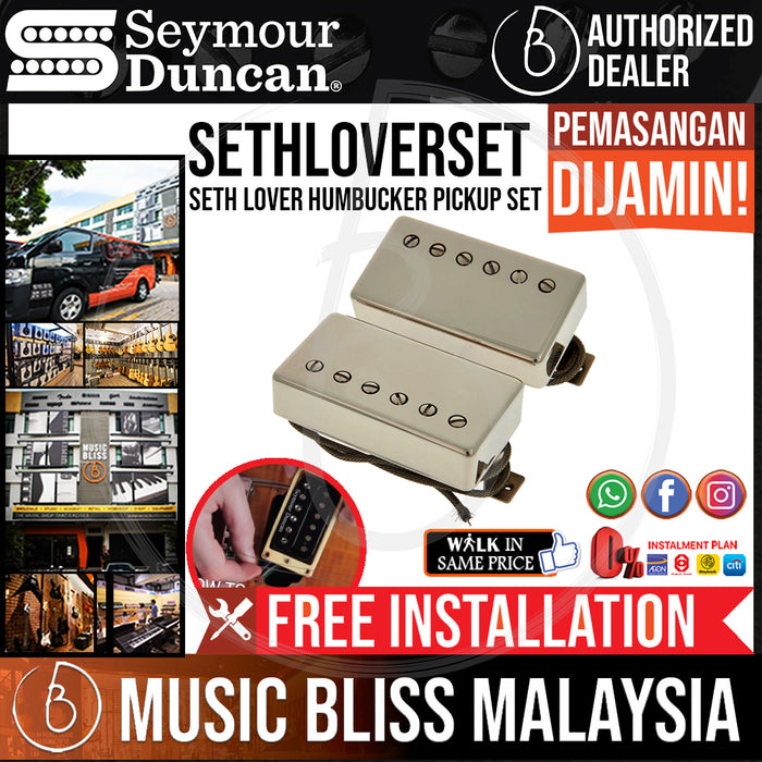 Seymour Duncan Seth Lover Humbucker Pickup Set - Nickel (Free In-Store Installation)