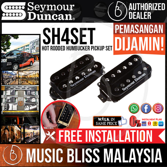 Seymour Duncan SH-4/SH-2 Hot Rodded Humbucker Pickup Set (SH4SET) (Free In-Store Installation) - Music Bliss Malaysia