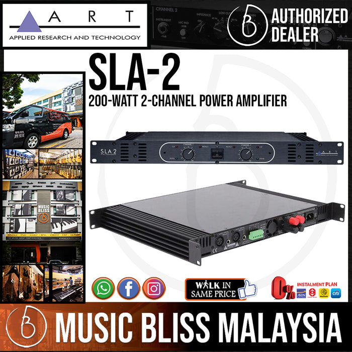 ART SLA-2 200-watt 2-channel Power Amplifier (SLA2)