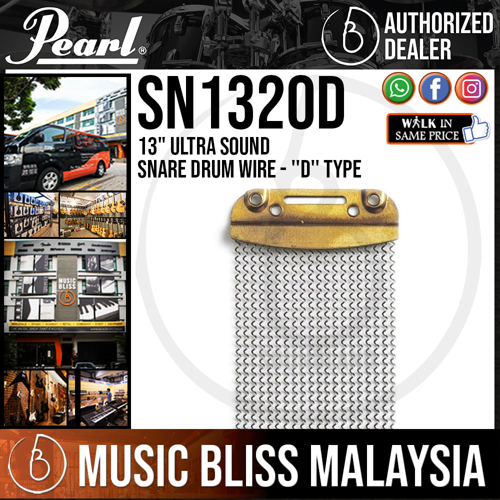 """Pearl SN1320D 13"""" Ultra Sound Snare Drum Wire - ''D'' Type (SN-1320D) - Music Bliss Malaysia"""