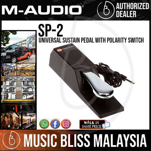 M-Audio SP-2 Universal Sustain Pedal With Polarity Switch - Music Bliss Malaysia