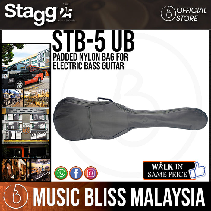 Stagg Padded Nylon Bag for for Electric Bass Guitar (STB-5 UB)