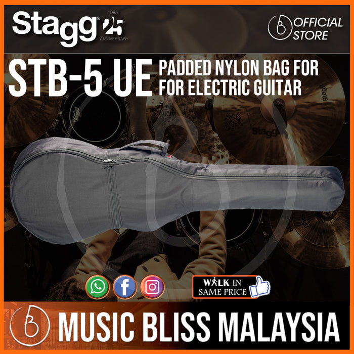 Stagg Padded Nylon Bag for for Electric Guitar (STB-5 UE) - Music Bliss Malaysia