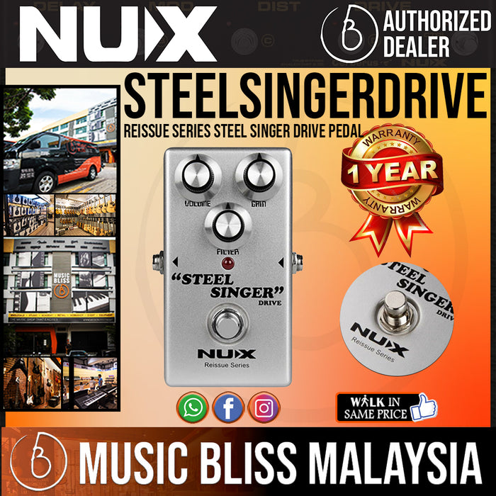 NUX Reissue Series Steel Singer Drive Pedal - Music Bliss Malaysia