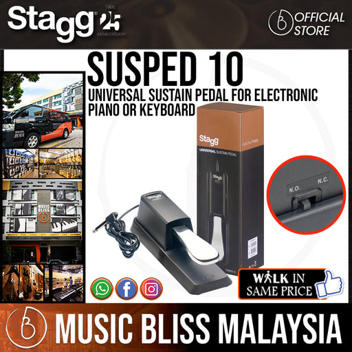 Stagg Universal Sustain Pedal for Electronic Piano or Keyboard - Music Bliss Malaysia