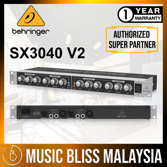 Behringer SX3040 V2 Ultimate Stereo Sound Enhancement Processor (SX-3040 / SX3040V2) *Everyday Low Prices Promotion*