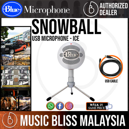 Blue Snowball Condenser Microphones (ICE) - Music Bliss Malaysia