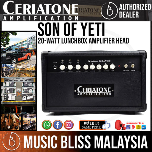 Ceriatone Hot Rodded Son of Yeti 20-watt Amp Head - Music Bliss Malaysia