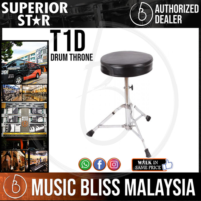 Superiorstar T1D Drum Throne (T-1D) - Music Bliss Malaysia