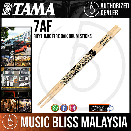 Tama 7AF Rhythmic Fire Oak Drum Sticks - Music Bliss Malaysia