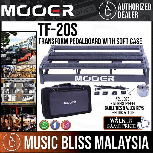 Mooer TF-20S Transform Pedalboard with Soft Case (TF20S)