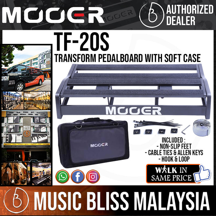 Mooer TF-20S Transform Pedalboard with Soft Case (TF20S) - Music Bliss Malaysia
