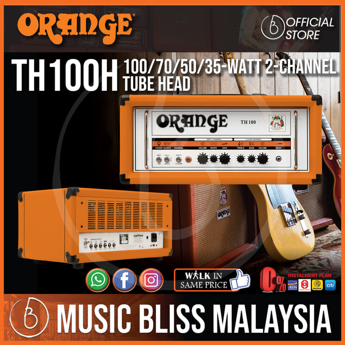 Orange TH100 - 100/70/50/35-watt 2-channel Tube Head *Crazy Sales Promotion* - Music Bliss Malaysia