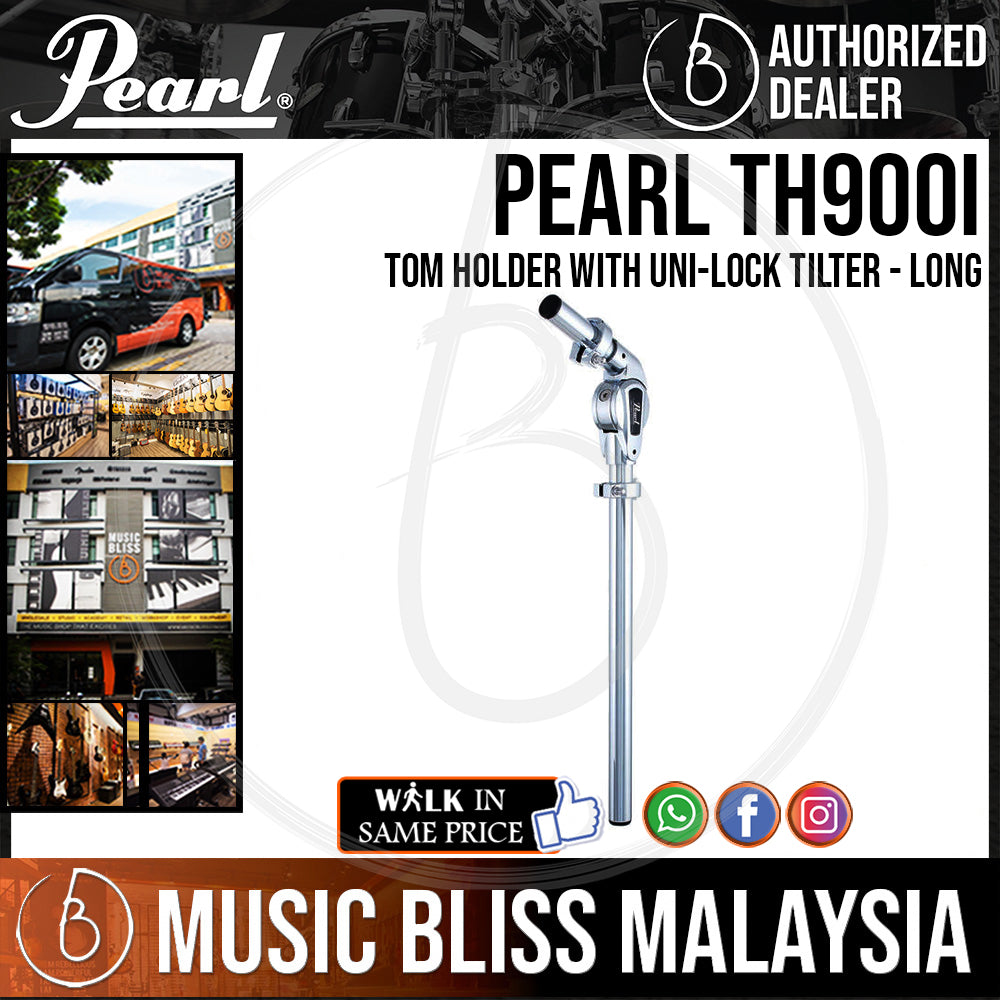 Pearl TH900I 900 Series Tom Holder with Uni-lock Tilter - Long (TH-900I) - Music Bliss Malaysia