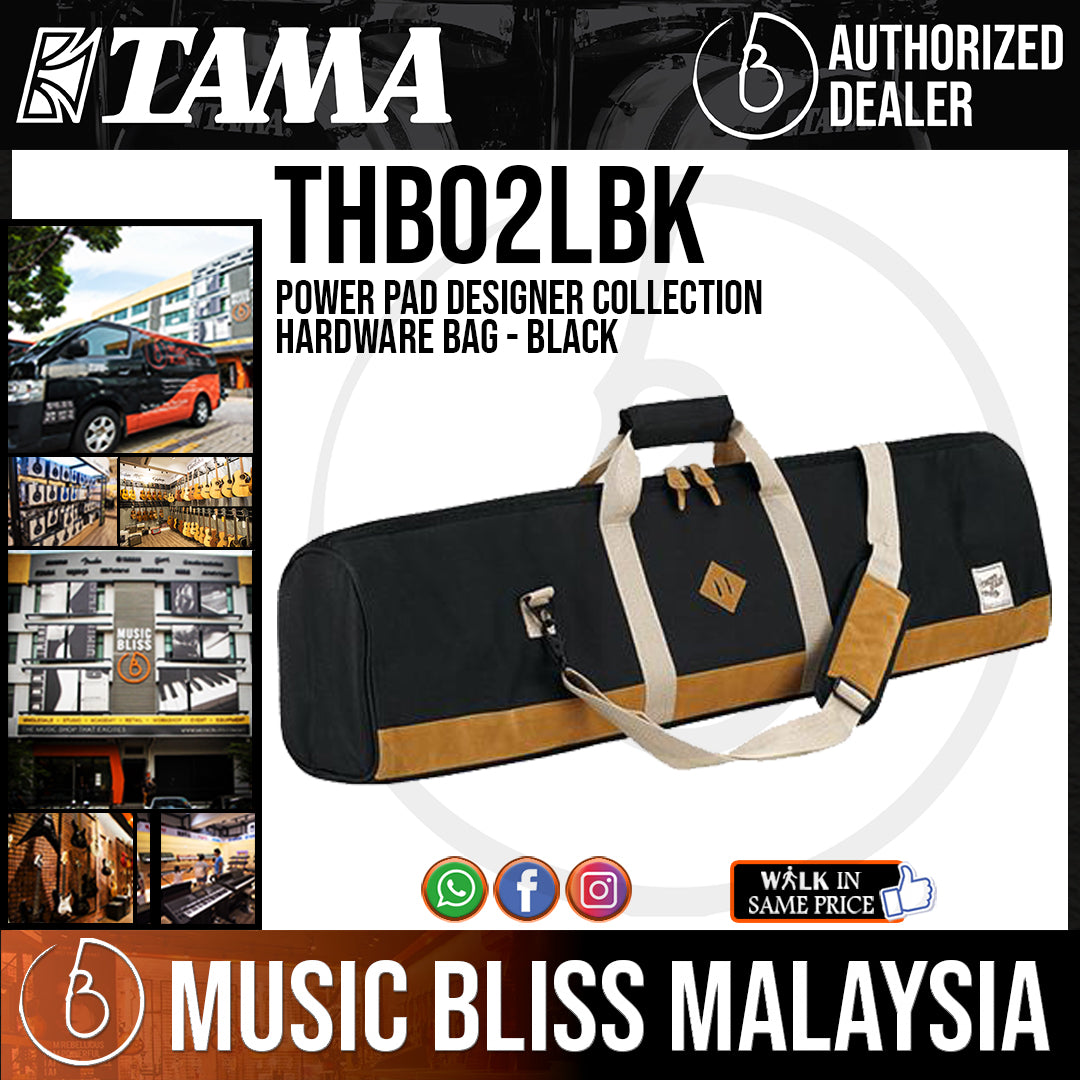 Tama THB02LBK Power Pad Designer Collection Hardware Bag - Black (THB02L) - Music Bliss Malaysia