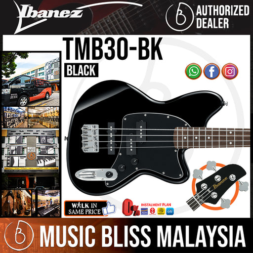 Ibanez TMB30 Talman Standard - Black (TMB30-BK) *Price Match Promotion* - Music Bliss Malaysia