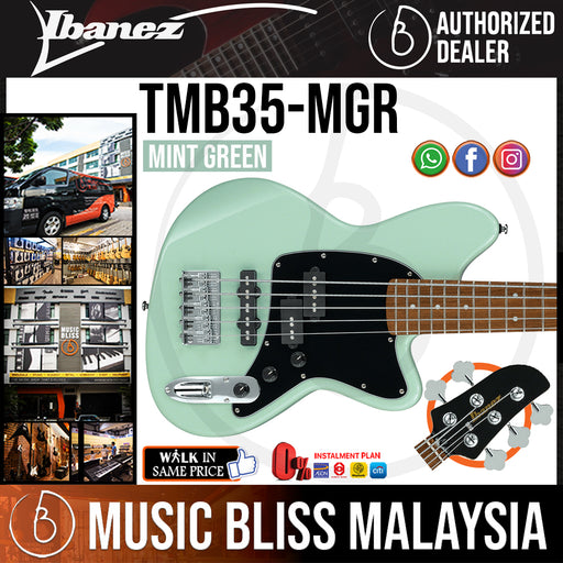 Ibanez Standard TMB35 - Mint Green (TMB35-MGR) *Price Match Promotion* - Music Bliss Malaysia