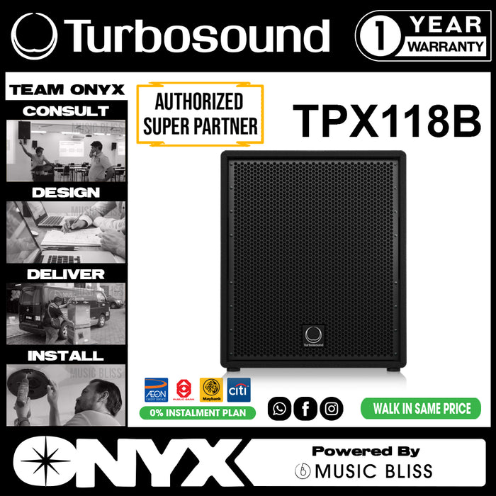 "Turbosound Performer TPX118B 18"" Passive Front Loaded Subwoofer (TPX-118B) - Music Bliss Malaysia"
