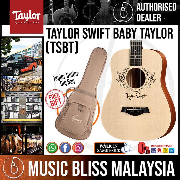 Taylor TSBT Taylor Swift Baby Taylor - Natural with Bag *Crazy Sales Promotion* - Music Bliss Malaysia