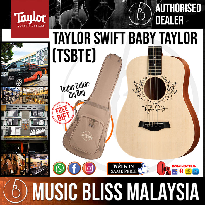 Taylor TSBT-e Taylor Swift Baby Taylor - Natural with Bag (TSBTe) *Crazy Sales Promotion* - Music Bliss Malaysia