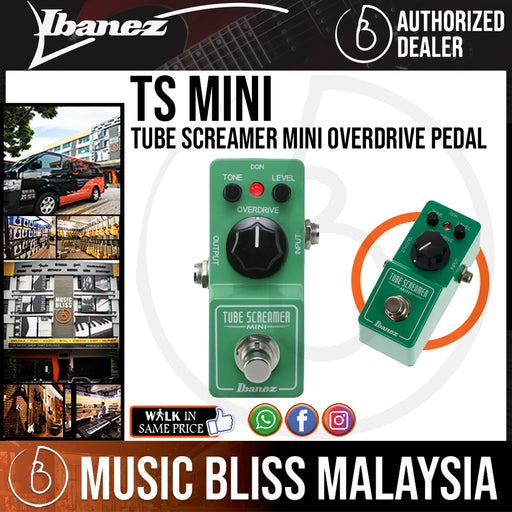 Ibanez TS Mini Tube Screamer Mini Overdrive Pedal (TSMINI) *Price Match Promotion* - Music Bliss Malaysia