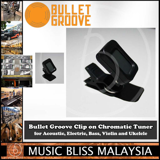 Bullet Groove Clip on Chromatic Tuner for Acoustic, Electric, Bass, Violin and Ukelele, Acoustic, Electric, Bass, Violin, and Ukelele Chormatic Tuner. - Music Bliss Malaysia