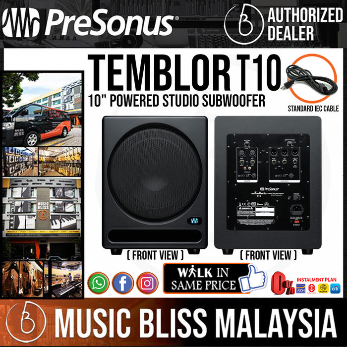 "PreSonus Temblor T10 10"" Powered Studio Subwoofer (T-10) - Music Bliss Malaysia"