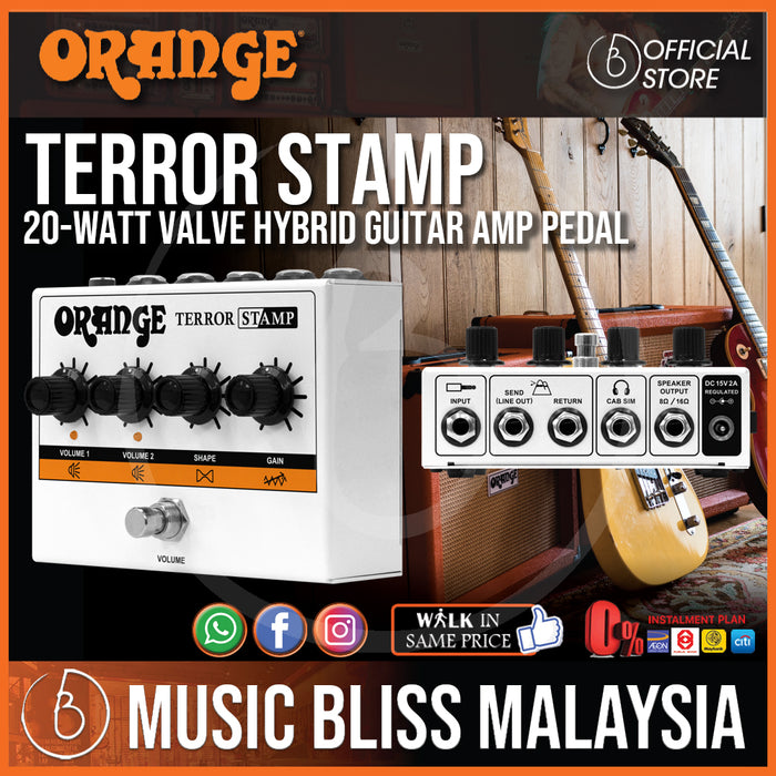 Orange Terror Stamp 20-watt Valve Hybrid Guitar Amp Pedal - Music Bliss Malaysia