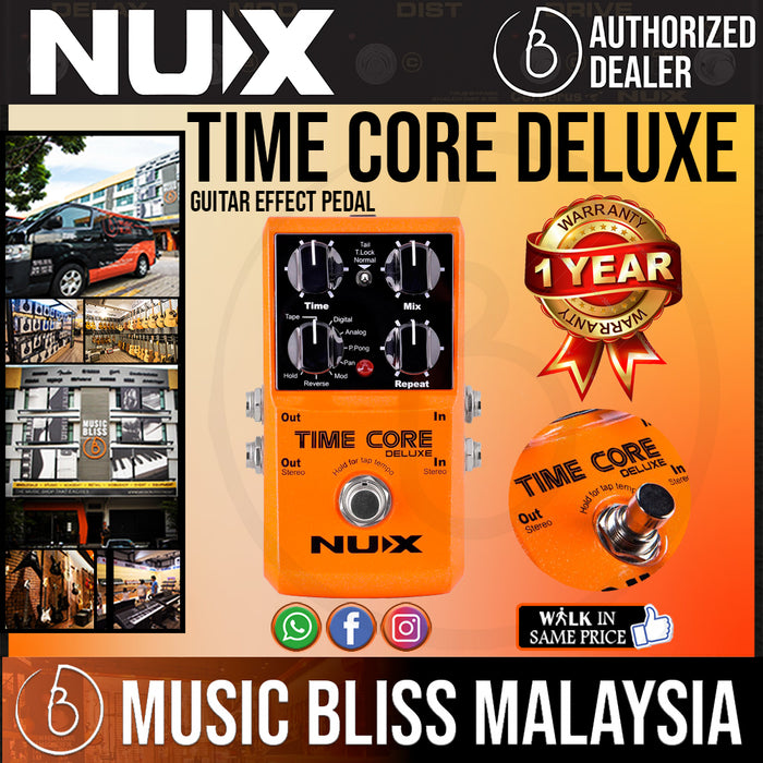 NUX Time Core Deluxe Delay Pedal *Crazy Sales Promotion* - Music Bliss Malaysia