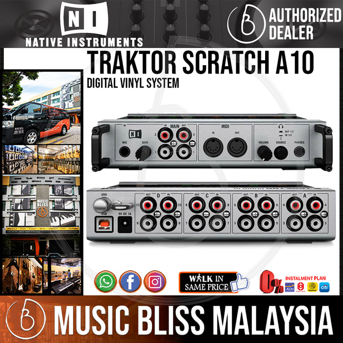 Native Instruments Traktor Scratch A10 Digital Vinyl System - Music Bliss Malaysia