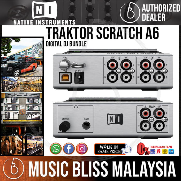 Native Instruments Traktor Scratch A6 Digital DJ Bundle - Music Bliss Malaysia