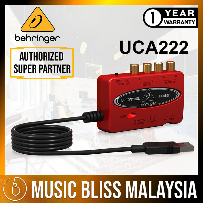 Behringer U-Control UCA-222 USB Audio Interface (UCA222 / UCA 222) *Crazy Sales Promotion*