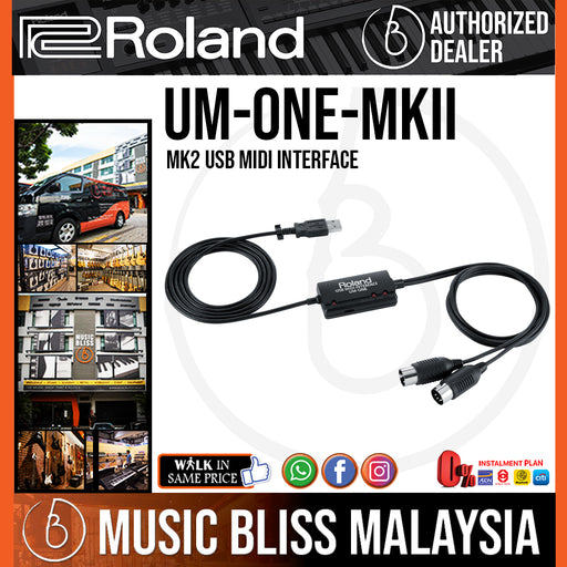 Roland UM-ONE MK2 USB Midi Interface (UM-ONE MKII) *Crazy Sales Promotion*