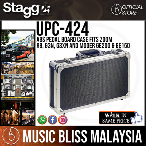 Stagg UPC-424 ABS Pedal Board Case fits Zoom R8, G3n & G3Xn